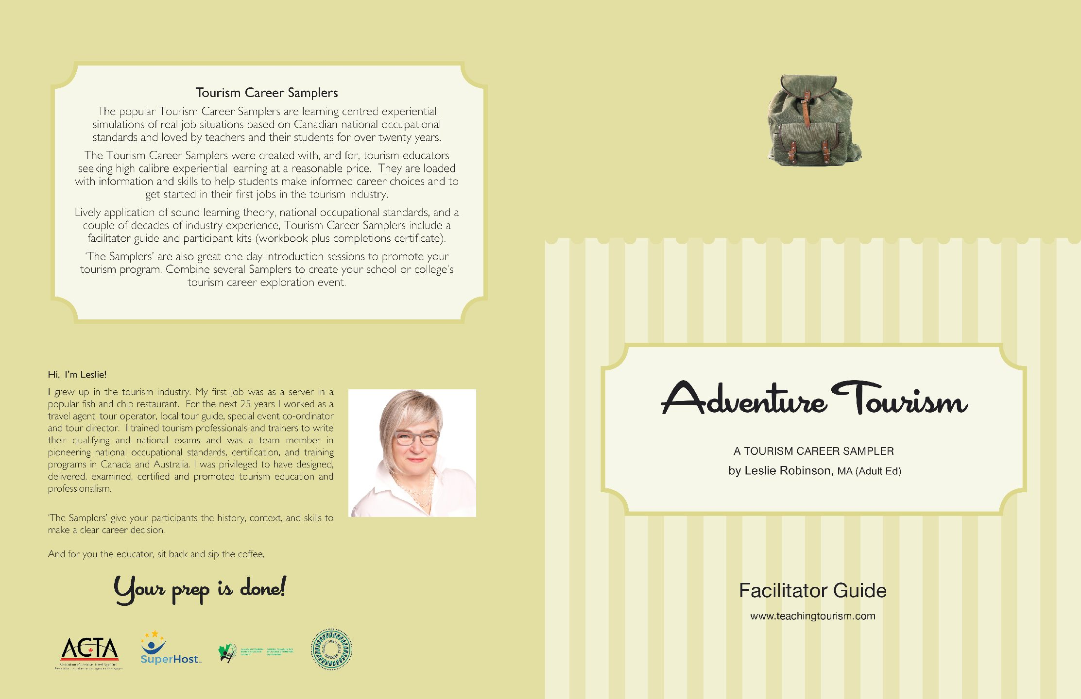 Adventure Tourism Facilitator Guide and Workbook
