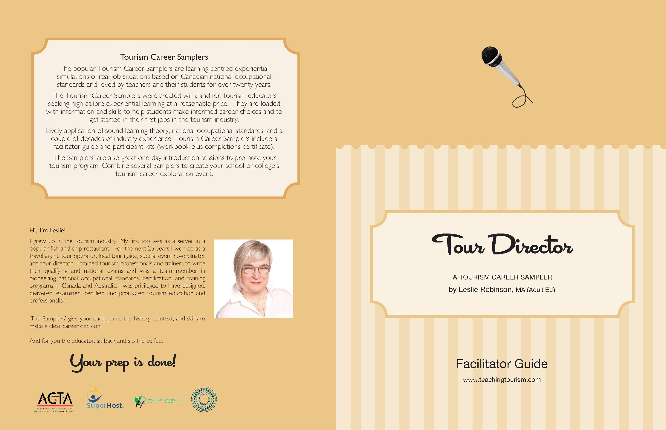 Tour Director Facilitator Guide and Workbook